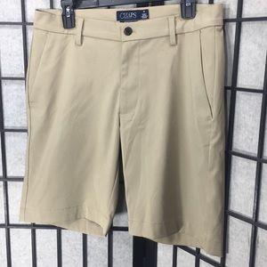 Chaps Ralph Lauren Men Tan Khaki Shorts Size 32